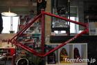 フレーム&Fフォーク(自転車) キャンディーレッド塗装