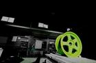 ホイール(四輪)グリーン蛍光近似色パウダーコート