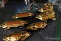 brembo Brake caliper GUN-KOTE dull brass �� anodized red