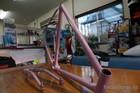 Bicycle frame  Powder coat Light Purple