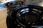 Normal wheel Powder Gross Black Paint