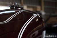 ヤマハ TX650 タンク 塗装 レストア クリアーコート