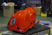 R1 カウル タンク カスタムペイント パールオレンジ パールホワイト ガンメタリック 塗装