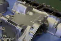 CB400F エンジン ガンコート シルバー 塗装 クランクケース
