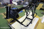 CB400F Frame Powdercoat Black