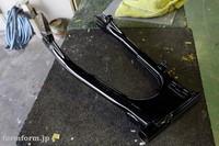 CB400F フレーム トップブリッジ アンダーブラケット Rrアーム スイングアーム パウダーコート 艶有黒 塗装