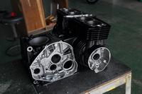 エンジン クランクケース シリンダー ウエットブラスト セラコート 塗装