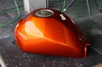 エイプ 燃料タンク fueltank ウレタン塗装 キャンディーオレンジ 塗装