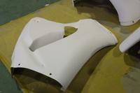 ヤマハ 8耐 R1 レース カスタム 塗装 マットシルバー1 ダークパープリッシュブルーメタリック カウル塗装 FRP